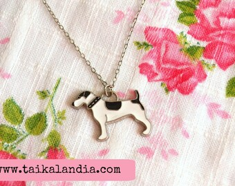 Jack Russell Necklace, Terrier Necklace, Dog Necklace, Dog Jewelry, Terrier Jewelry, Jack Russell Charm, Dog Charm, Terrier Pendant