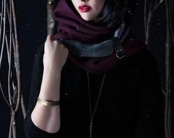 infinity scarf plum and grey blk zigzag