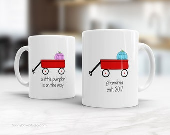 Grandparent Mugs Mug For Grandma Grandpa Pregnancy Reveal Announcement New Baby Boy Girl Future Grandparents To Be Personalized Gift Gifts
