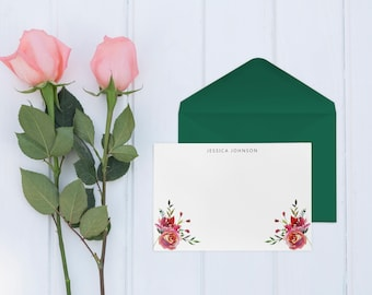 Personalized Note Cards, Personalized Stationery Set, Custom Note Cards, Set of 10 Cards with Envelopes, NC002
