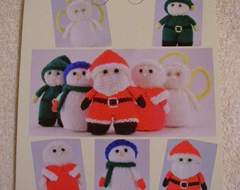 Mini Christmas Characters Knitting Pattern In DK