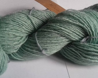 Sea. 80g of hand dyed 4 ply weight yarn