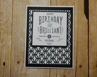 Happy Birthday Greeting Card / Handmade / Blank Inside Greeting Card / Stamped Greeting Card / Birthday Greeting Card