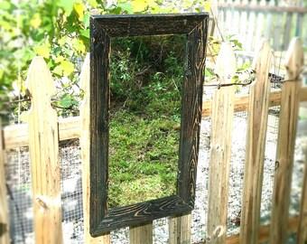 Rustic Mirror Reclaimed Barnwood Bathroom Vanity Mirror Cottage Beach Chic Entry Hall Wall Hanging