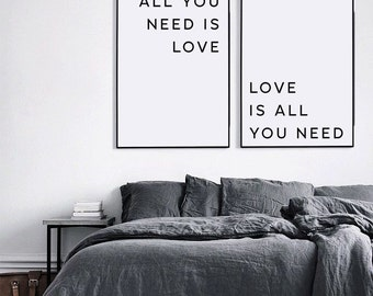 All you need is love, Valentines day, Beatles Lyrics, Love is all you need, Love print, Love poster, Love printable, Valentines printable