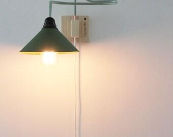 Handmade Wall lamp. Applique. Copper lamp. Wooden lamp. Vintage Lamp. Edison lamp. Light fixture. Wall Sconce lamp #OOAK Mod. WOOD&GREEN