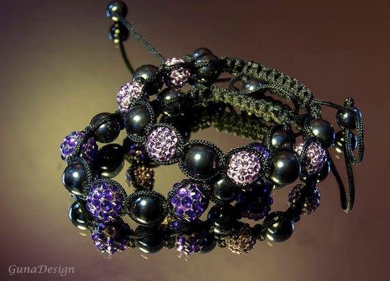 Shamballa Bead Macrame Bracelet