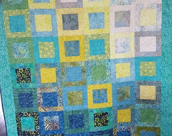 Geometric Garden (Med) Quilted Throw