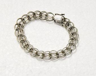 Sterling Silver Charm Bracelet Vintage Jewelry