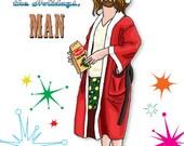 Big Lebowski Dude Walter Jesus Donnie Holiday Greeting Postcards