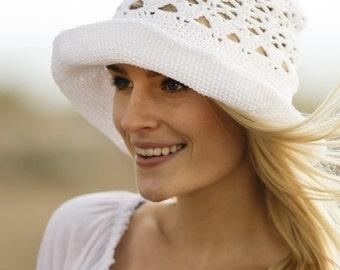 Summer outdoors Spring hat Hemp Summer hat Sun hat womens Bucket hat Beach hat Cotton hat Brim hat Floppy hat Crochet hat Derby hat