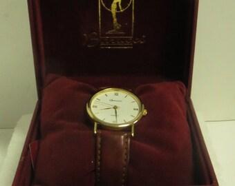 "Vintage Estate ""Barucci"" Quartz Watch w/ Leather Band in Original Box."