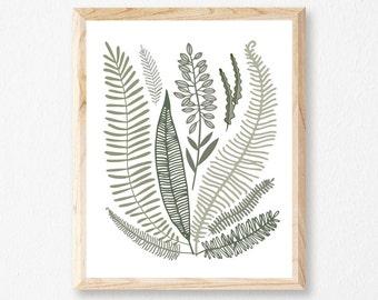 "Wild Fern 8x10"" Letterpress Print // HeartSwell // Art Print // Botanical Print // Plant Lover"