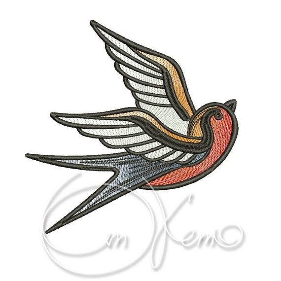 machine embroidery design old school tattoo embroidery. Black Bedroom Furniture Sets. Home Design Ideas