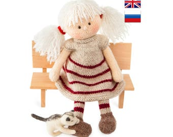Knitting pattern Doll Toy knitting pattern Knitted doll PDF  Doll DIY tutorial Knitted doll making /Maggie, the Magic Doll