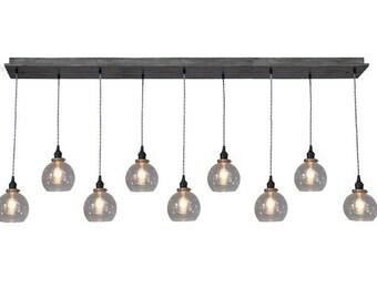 Glass Globe Pendant Chandelier With Nostalgic Bulbs - Dining Room Lighting