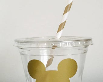 12 Blue and Gold Mickey Mouse Party Cups, Mickey Mouse Birthday Cups, Mickey Mouse, Shower Favors, Shower Decor, Gender Reveal, 1st Birthday