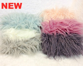 NEW ITEM....... Curly Sheep Faux Fur, 8 Beautiful Colors, Newborn Baby Photo Prop, Flokati Look, Faux Sheep Fur, Luxury Photo Prop,