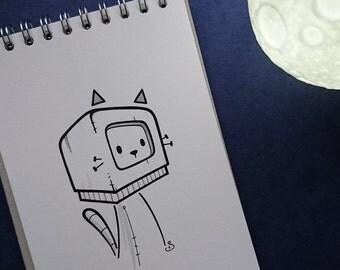 Space Cat Original Artwork | Illustration | Drawing | Doodle | Urban Art