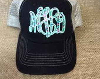 Lilly Pulitzer initial hat