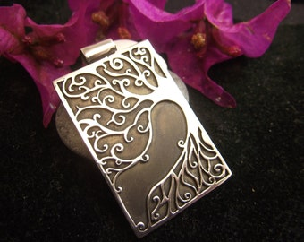 Tree of Life Pendant Sterling Silver Plain Silver Jewelry NecklacePendant Artisan Design Handmade Jewel Bodhi Tree