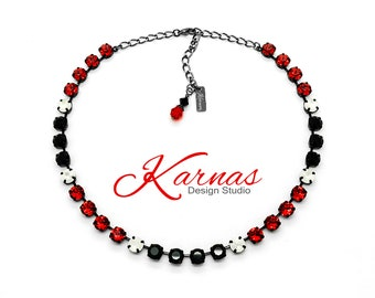 BLACKJACK 8mm Crystal Necklace Made With Swarovski *Pick Your Finish *Karnas Design Studio *Free Shipping