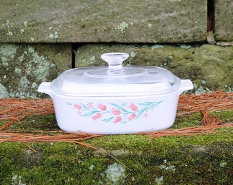 Two (2 L) Liter/Quart ~ Corning Ware ~ Rosemarie ~ Covered Casserole ~ Saucepan ~ With Pyrex Lid ~ Vintage Corning Ware ~ 1995-97