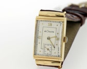 LeCoultre wristwatch 14K Gold Domed Crystal