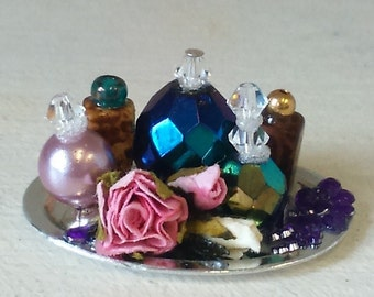 Dollhouse Miniature Perfume Tray