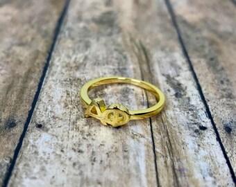 Alpha Phi Sorority Classic Letter Ring   Sorority Ring   Alpha Phi Ring   APhi Ring   Alpha Phi Jewelry   Sorority Jewelry