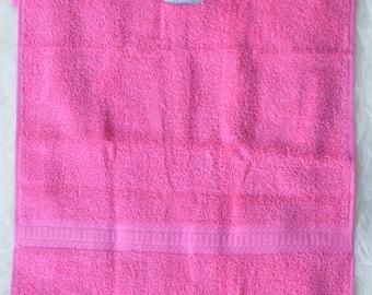 Pink Towel Bib