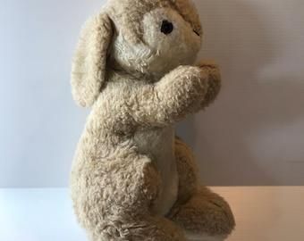 BROWN STUFFED RABBIT, Large stuffed rabbit, vintage plush rabbit, old plush rabbit, brown bunny, large bunny, vintage stuffed animal