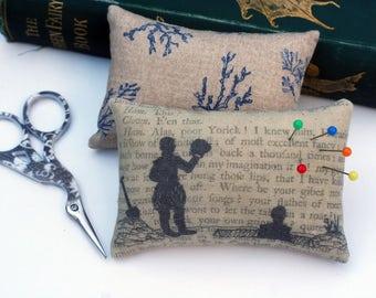 Classic Literature - Hamlet Silhouette Illustration Pin Cushion