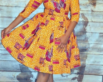 New listing Yurizaa African print dress