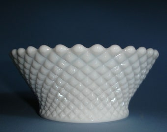 Charming Vintage Milk Glass Bowl