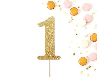 First Birthday Cake Topper, 1 Cake Topper, Smash Cake Topper, First Birthday Party Decorations, Glitter 1 Cake Topper, Gold 1 Cake Topper