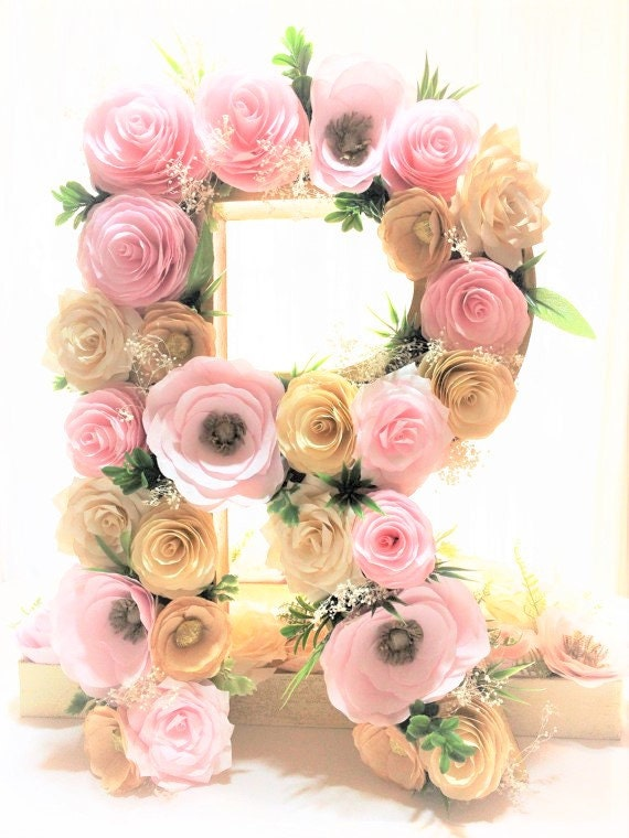 letter a floral decoration images paper mache letter paper mache number floral by centertwine 13000