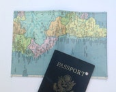 Passport holder: Vintage South America Map