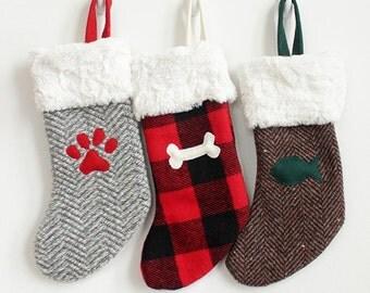 Pet Christmas Stockings | Personalized Xmas Stocking | Initial Stocking {Pet Christmas Stocking}