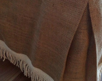 Queen Size Burlap Bedskirt - Bed Skirt - Rustic Bedskirt - Burlap Bedding - Bedskirt - Bedroom Decor - Farmhouse Bedskirt - Burlap Valance