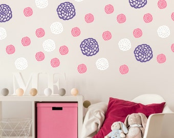 Flower Wall Decals   Girls Room Flower Decals   Flower Wall Decor   Blooms  Decal   Part 70