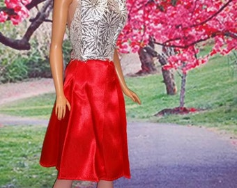 Set of Red Fashions for Barbie Handmade & Factory Made