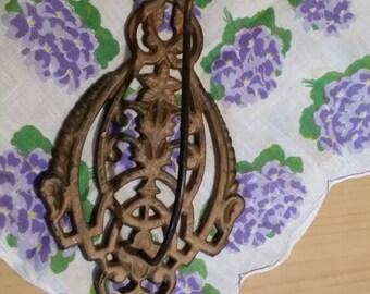 Antique Cast Iron Receipt Bill Wall Hook ftom Early 1900s Edwardian Style