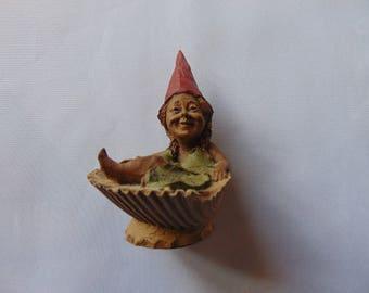 Vintage 1984 Tom Clark gnome Bubbles seashell