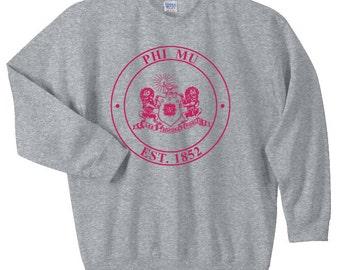 Phi Mu Crest Sweatshirt