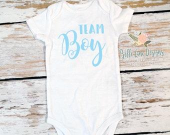 Team Boy Gender Reveal Onesie   New Baby Boy   Expecting Baby Team Boy   Gender Reveal   Pregnancy Surprise   Pregnancy Announcement   181