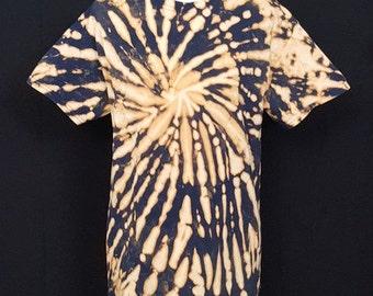 Reverse Tie Dye Shirt  | Men/Women Tie Dye | Adult Short Sleeve | Available Sizes S M L XL XXL  | Festival | Rave | Hippie | Handmade
