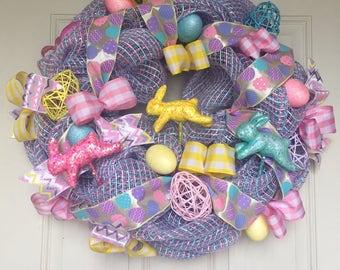 Pink/Purple Easter Wreath