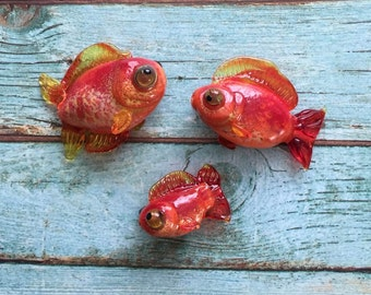 Glass Fish Lampwork Focal Bead - Fish Pendant Jewelry - Animal Bead Glass -Colorful Fish - Glass art - Ocean fish