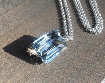 Blue Quartz Gemstone Necklace // Custom Wedding Jewelry // Bohemian Jewelry // Boho Luxe // Boho Look